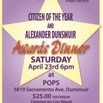 April 23 – Citizen of the Year & Alexander Dunsmuir Awards Dinner
