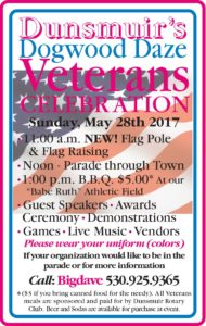 Dunsmuir's Dogwood Daze Veterans Celebration