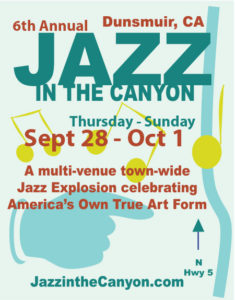 Dunsmuir's 6th Annual Jazz in the Canyon