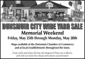 Dunsmuir Citywide Yard Sale 2018
