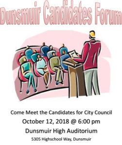 Dunsmuir Candidates Forum