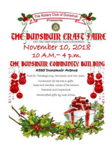 dunsmuir craft faire 2018 flyer